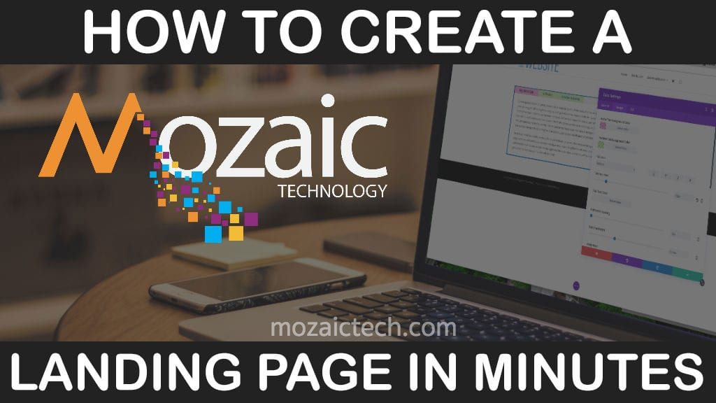 How to create a landing page with Divi & WordPress - Mozaic