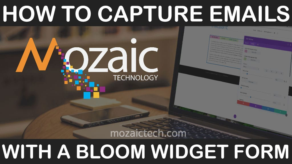 Use widgets to capture email leads using WordPress, Divi, & Bloom