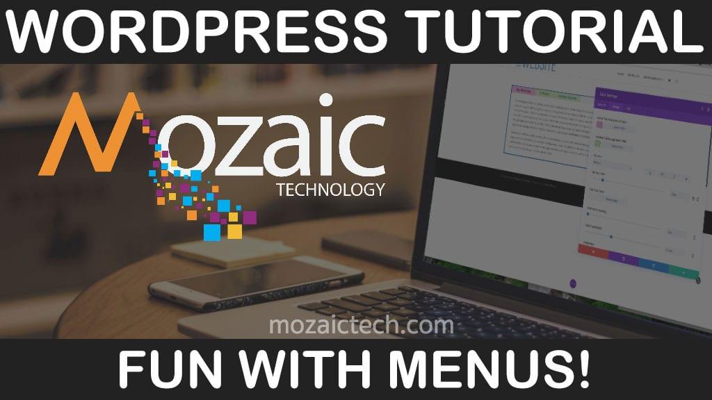 Fun with Menus, WordPress, & Divi