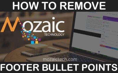 How to Remove Bullet Points from Footer Menus in WordPress