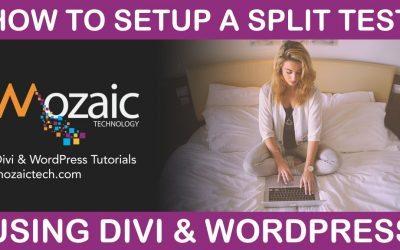 How to A/B & split test using Divi & WordPress