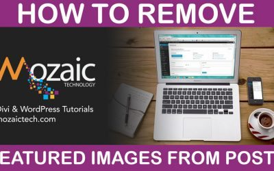 Remove Featured Images From Blog Posts – Divi & WordPress Tutorial