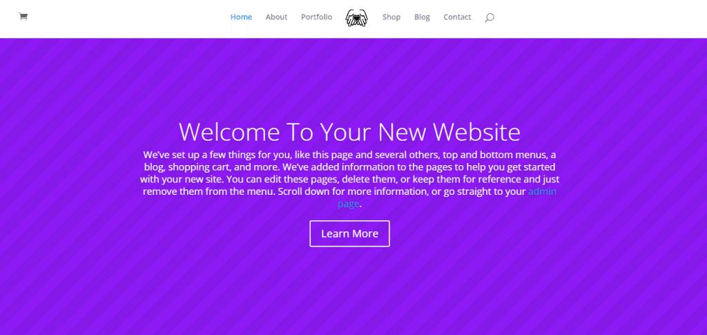 Mozaic Platform Basic Homepage