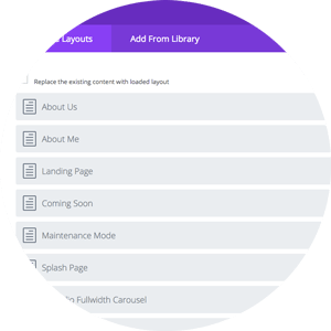 The Divi Theme Builder - Pre-made Layouts to get your design rolling