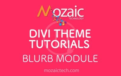 How to add the blurb module to a page using the Divi Visual Builder