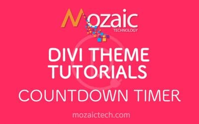 How to add a Countdown Timer using the Divi Visual Builder
