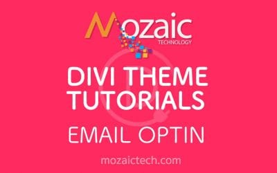 How to add an email optin to a web page using the Divi Visual Builder