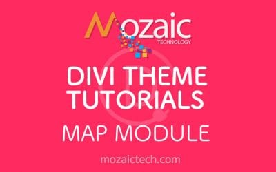 Divi 3.0 Tutorial – How to add a map to a web page using the Divi Visual Builder