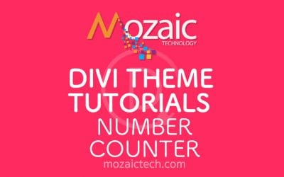 Add a number counter to your web page using the Divi Visual Builder