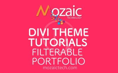 How to add a Filterable Portfolio using the Divi Visual Builder