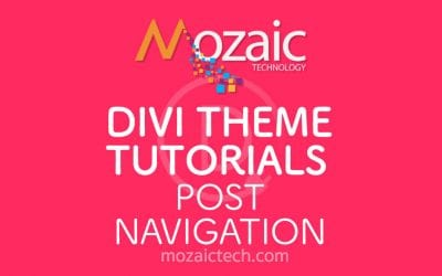 How to add post navigation using the Divi Visual Builder