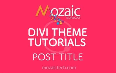 How to use the post title module in the Divi Visual Builder