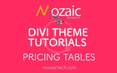 How to add pricing tables using the Divi Visual Builder