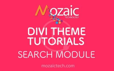 How to use the search module in the Divi Visual Builder