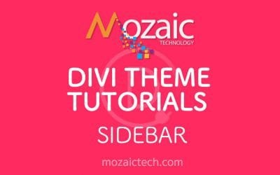 How to add a sidebar using the Divi Visual Builder