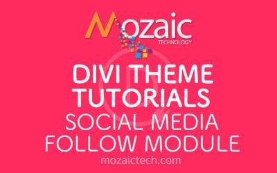 Divi Tutorial – How to add a social media follow button to a web page