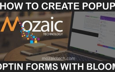How to build popup optin forms to grow your mailing list with Bloom