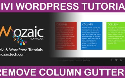 How To Remove Spaces Between Columns – Divi Visual Builder